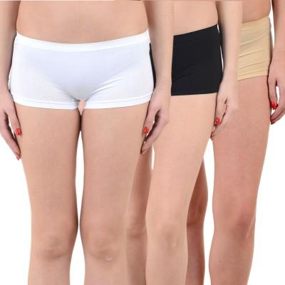 Mynte Solid Women's White, Black, Brown Cycling Shorts, Gym Shorts, Swim Shorts