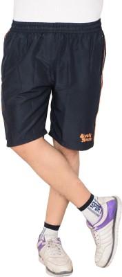Blue Horse Striped Men's Blue, Orange Basic Shorts