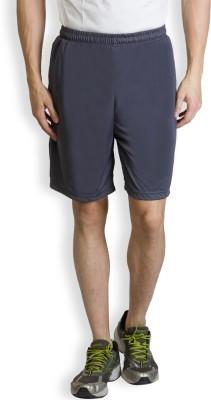 Yaadi Solid Men's Grey Sports Shorts