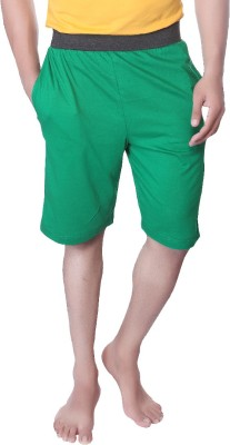 LUCfashion Solid Men's Green, Black Basic Shorts