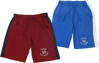 Jus Cubs Embroidered Boys Multicolor Sports Shorts