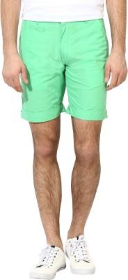 Silver Streak Solid Men,s Light Green Basic Shorts