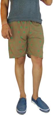 B VOS Printed Men's Brown Basic Shorts