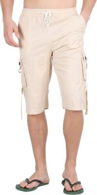 Parade Solid Men,s Beige Bermuda Shorts