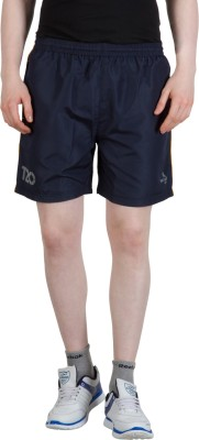 Goodluck Solid Men,s Dark Blue, Yellow Sports Shorts