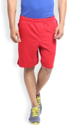 2go Solid Men's Red Sports Shorts