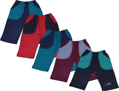 Provalley Solid Boy's Multicolor Basic Shorts