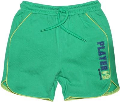 FS Mini Klub Printed Boy's Green Basic Shorts