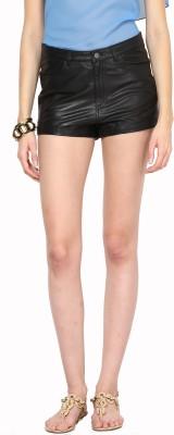 Aditi Wasan Solid Women,s Black Hotpants