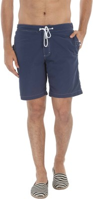 Zobello Solid Mens Blue Swim Shorts