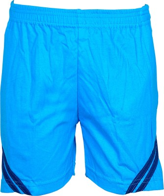 Gee & Bee Solid Boy's Blue Sports Shorts