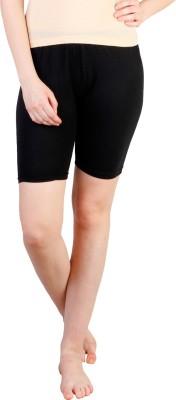 Rham Solid Women's Black Basic Shorts