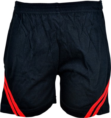 Gee & Bee Solid Boy's Black Sports Shorts
