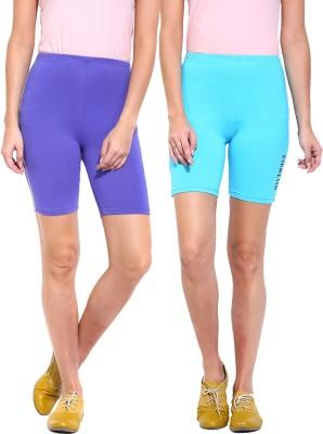 ESPRESSO Solid Women's Blue, Blue Basic Shorts