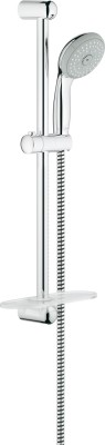 Grohe GROHE New Tempesta 100 shower rail set with hand shower (100 mm), shower rail (600 mm) and shower hose (1.750 mm), 4 spray patterns, 9.5 l/min Shower Head