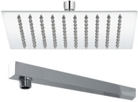 """Kitsch Ultra Thin SS Square 300mm(12""""X12"""") Rain Shower Combo With 375mm (15"""") SS Shower Arm For Shower Head"""
