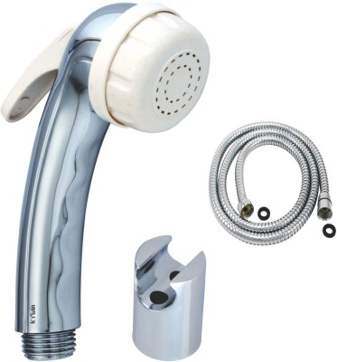 Kywin Abs Aqua White Health Spray With Cylindrical Hook & 1 Metre Flexible Tube Hand Shower Head