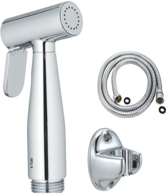 Kywin Mini Brass Health Spray With Abs Oval Hook & 100 Cms. Long Flexible Tube Hand Shower Head