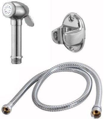 Sunrise Denso Health Faucet With 1.5 Metre S.S. Flexible Hose And Pvc Wall Hook Shower Head