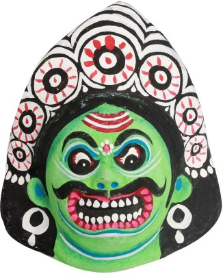 Slice of Bengal Paper Tribal Mask Showpiece  -  14 cm