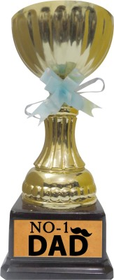 Tiedribbons Gift For World No One Father Trophy Showpiece  -  22 cm(Gold Plated, Gold)