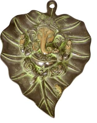 Sutra Decor Leaf Ganesha Showpiece  -  21 cm
