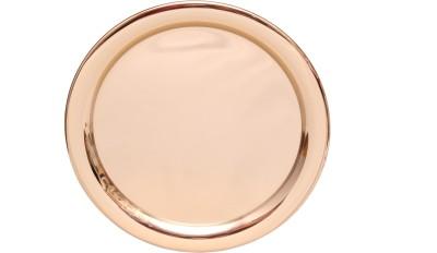 Sutra Decor Golden Plate / Pooja Thali Set of 4 Showpiece  -  1.5 cm