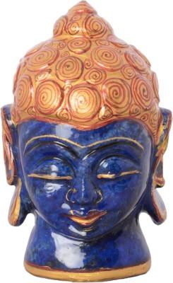 Rajasthali Arts Lapis Bhudha Head Showpiece  -  8 cm
