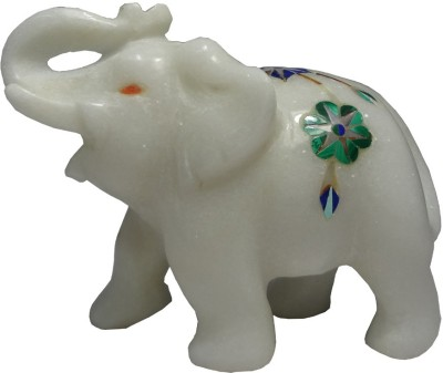 Avinash Handicrafts Marble Inlaid Elephant 2