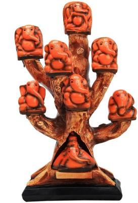 Adaa Asta Ganapathi in a beautiful Tree design Showpiece  -  32 cm