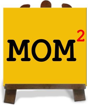 Tiedribbons Gifts For Square Mom Tile Showpiece  -  28 cm(Ceramic, Multicolor)
