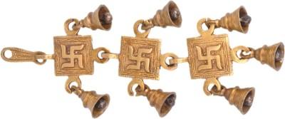 SI Diesel Si diesel brass idol Gift-Hanging Swastik Bells Sets of 3 Showpiece  -  30 cm