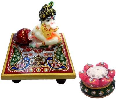 EtsiBitsi EtsiBitsi Krishna Chowki With Agarbatti Stand Showpiece  -  11.5 cm