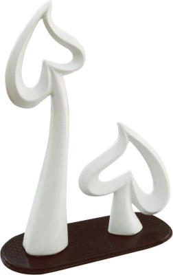 Fancy Interio Inverted Heart Valentines Figurine Showpiece  -  17 cm