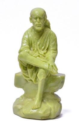 Kaushal Creation Marble Sai Baba Idol Showpiece  -  12 cm
