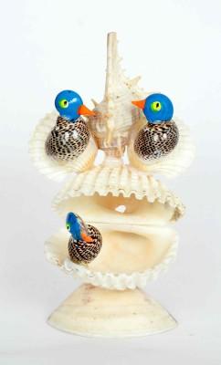 KHUSHI HANDICRAFTS SHANKH BIRD Showpiece  -  13.5 cm