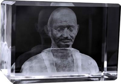 Eternal Gandhi Crystal Cube Showpiece  -  9 cm