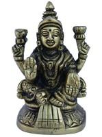 Aakrati Goddess Lakshmi Statue in Black Finish Showpiece  -  8 cm(Brass, Black)