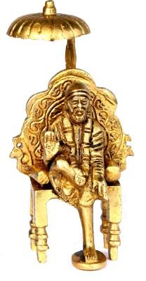 SKM Brass idol Sai Baba Chatri Showpiece  -  11.43 cm