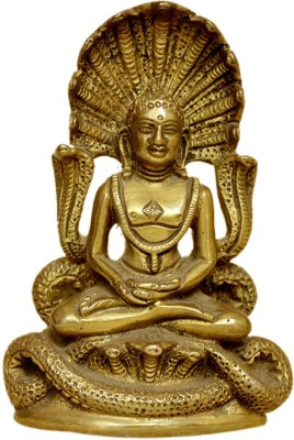 IndianShelf Mahavir Statue Showpiece  -  7.8 cm(Brass, Multicolor)