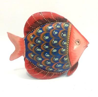 Shivay Arts Metal Fish Showpiece  -  13.5 cm