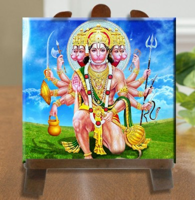 Tiedribbons Lord Hanuman Murti Tile Showpiece  -  26 cm(Ceramic, White)
