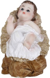 Jula Baby Jesus Showpiece - 8 cm(Polyresin, Multicolor)