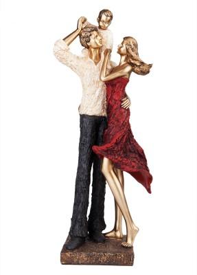 X-Gift Aramani Valentine love romantic couple Showpiece  -  45 cm(Polyresin, Multicolor)