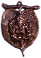 AntiqueHomeDecor Metal wall hanging of Lord Vinayak Ganesha on Leaf Showpiece  -  22 cm(Aluminium, Alloy, Copper)