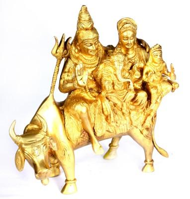 SKM Brass Idol Shiv pariwar Showpiece  -  26.67 cm