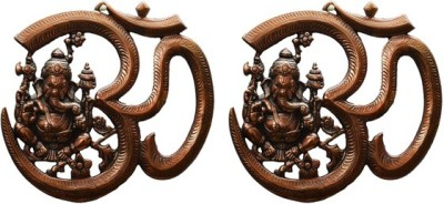 Sutra Décor Wall Hanging Lord Ganesha With Om Showpiece  -  22.5 cm