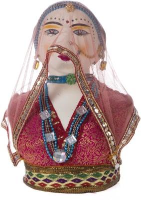 Smile2u Retailers Rajasthani Dressed Lady Showpiece  -  13 cm