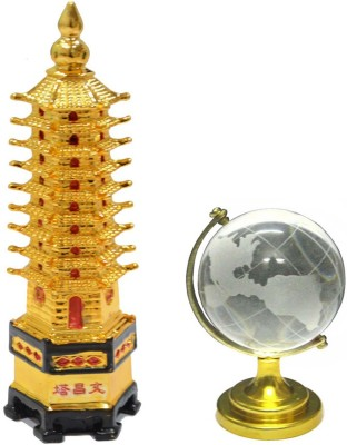 Shakti Education Tower With Globe For Academic Success Showpiece  -  12 cm