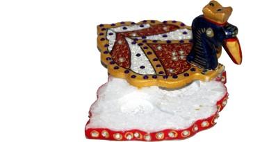 MadeInIndiaGallery Marble Sindoor Dani Showpiece  -  7.5 cm